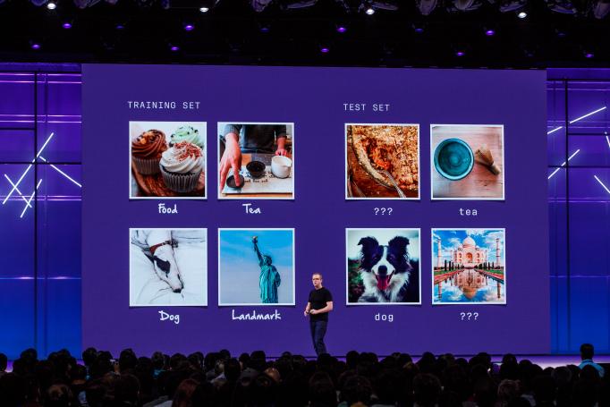 Mike Schroepfer falando sobre o trabalho de reconhecimento de imagem do Facebook