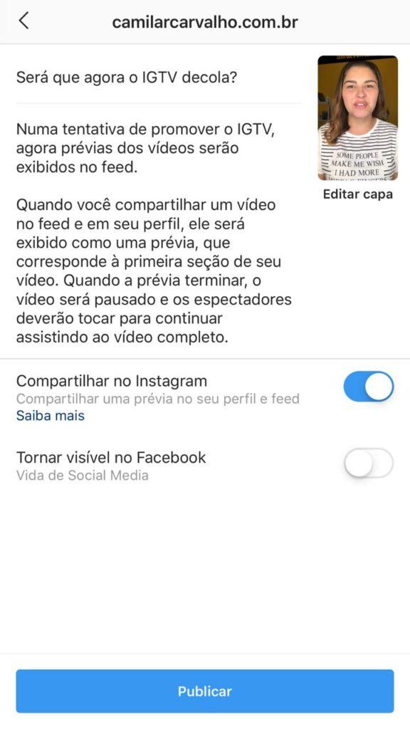 como-aparece-vídeo-igtv-no-instagram-camila-carvalho